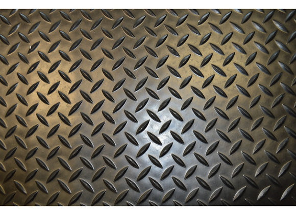Chequer Plate Style Rubber Mat