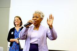 Brenda Girton-Mitchell delivering delivering a talk