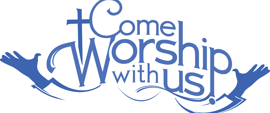 Come worship wih us title of page