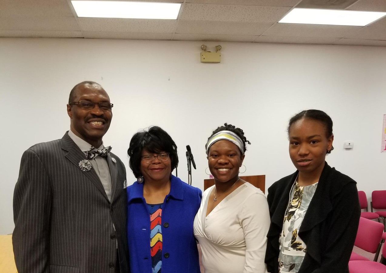 Pastor Ellison and his family