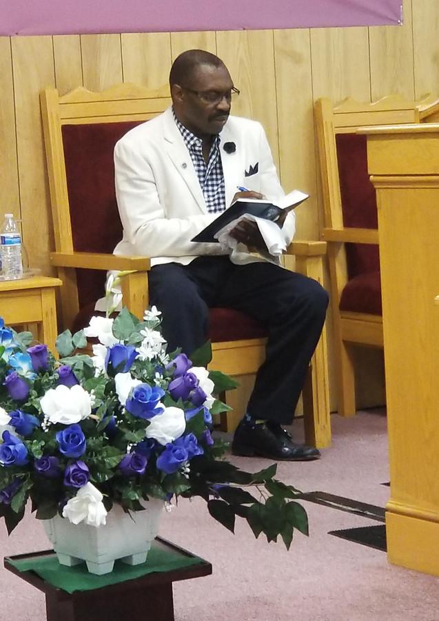 Pastor Ellison during service
