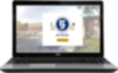 City of Joy Ministries website on laptop