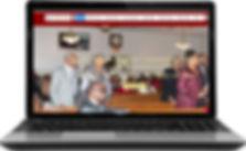 Cornerstone Baptist Community Church website on laptop