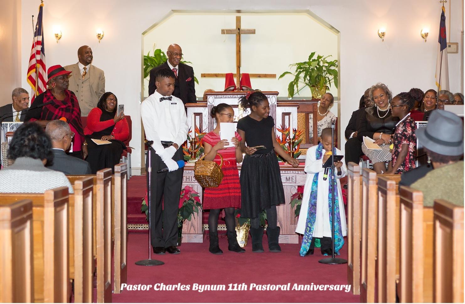 Pastor Anniversary youth present