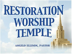 Restoration Worship Temple Promo  Rack Card