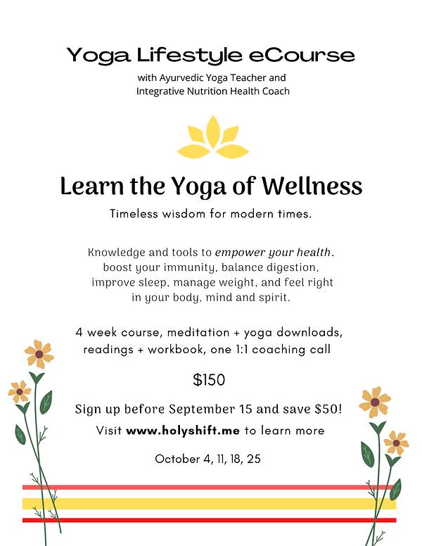 Yoga Lifestyle E-Course with IIN Health