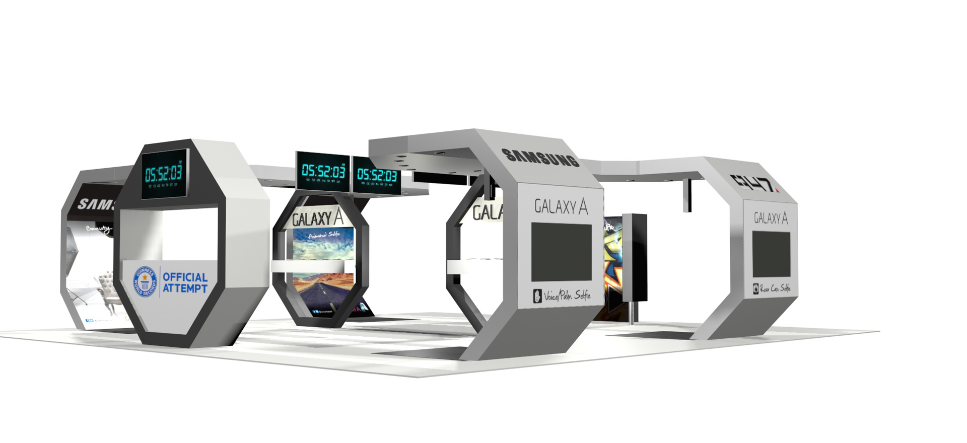 Custom Exhibition Stand 3D Render