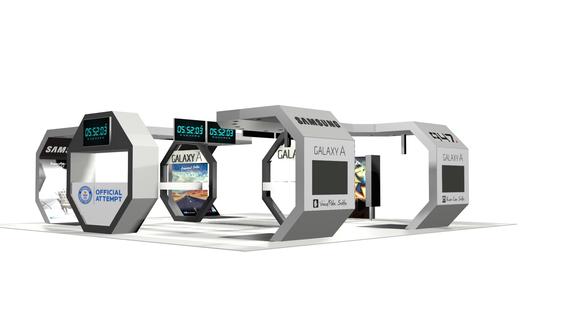 Custom Exhibition Stand 3D Render