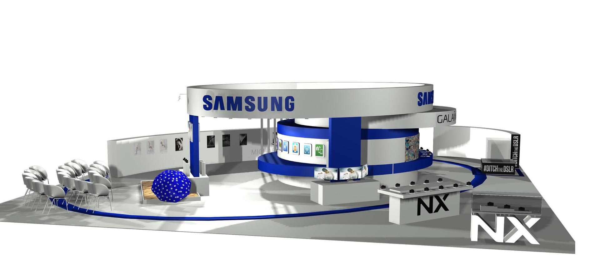 Exhibition Stand 3D Render