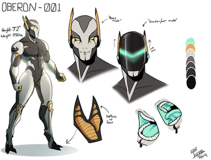 Oberon Character sheet commission
