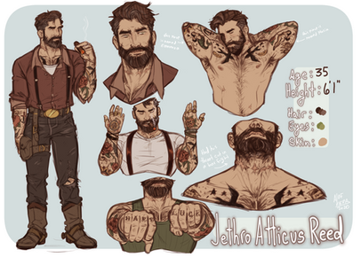 Jethro Reed Character Sheet Commission