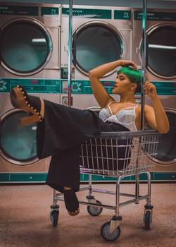 Portrait - In a Laundromat
