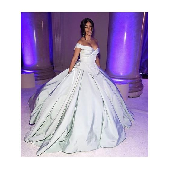 Cardi B attends Rihanna's 3rd Annual Diamond💎 Ball wearing Christian Siriano😍