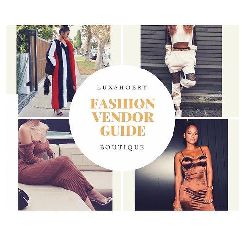 Fashion Vendor Guide