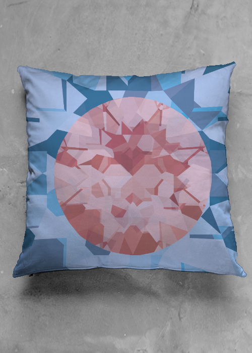 Red Crystal Accent Pillow