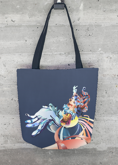 Happy Clown Tote Bag