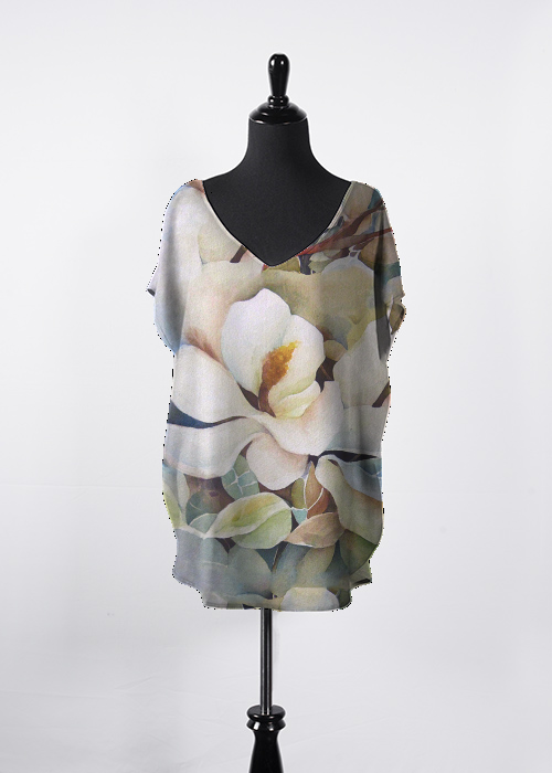 Watercolor Magnolias Shirt
