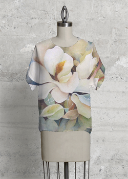 Watercolor Magnolias Modern Tee