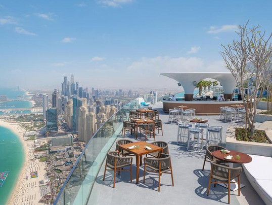 Highest Outdoor Infinity Pool in a Building