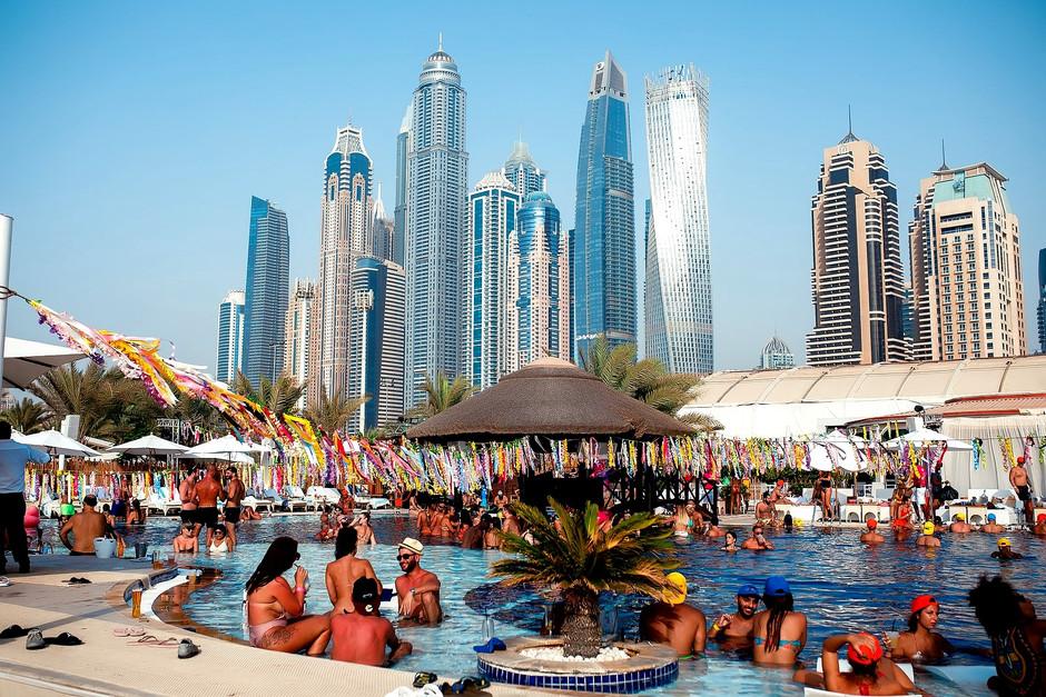Pool Tribe Ladies Day Every Tuesday at Andreea's Beach Club, Habtoor Grand Resort Dubai Marina