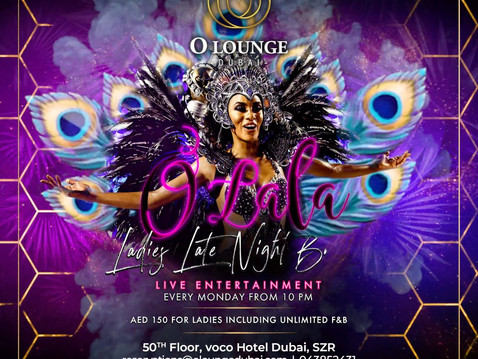 Dubai Late Night Ladies Brunch Every Monday at O Lounge Dubai for Only Dhs 150