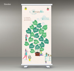 Nature Bliss - Exhibition Standee