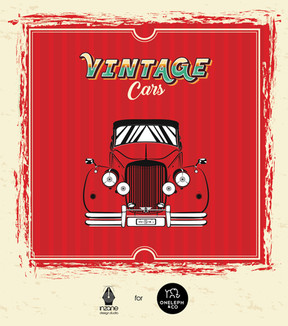 Vintage Car Pattern Love
