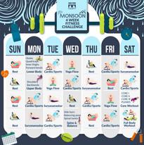F2F Fitness challenge Calendar