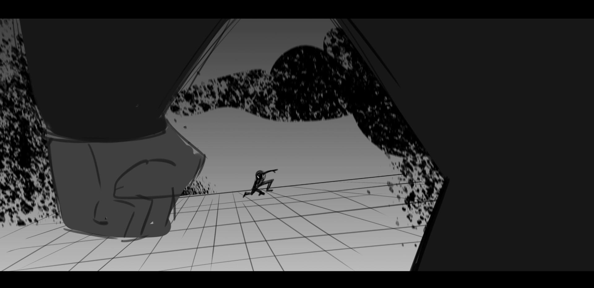 Spiderverse Shot Study
