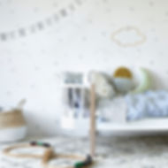 Hibou_Home_Starry Sky wallpaper_Silver_H