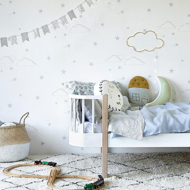 Hibou_Home_Starry Sky wallpaper_Silver_H