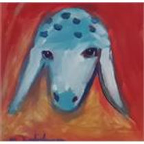 מנשה קדישמן: 'ראש של כבשה' אקריליק על קנווס