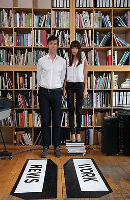 ג'סיקה וולש וסטפן זגמייסטר בסטודיו. צילום: באדיבות סטודיו זגמייסטר & וולש
