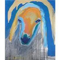 מנשה קדישמן: 'ראש כבש' אקריליק על קנווס