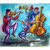 יוסי שטרן: 'כליזמרים' צבעי גואש על נייר