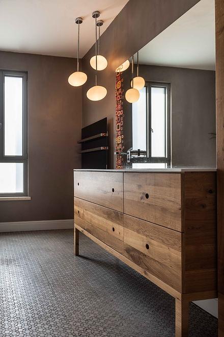 תכנון: פנינה ונועם רימון אדריכלים  צילום: גלעד רדט תכנון אמבטיה
