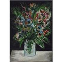 יוסל ברגנר: 'צנצנת פרחים' ליטוגרפיה בחתימה אישית