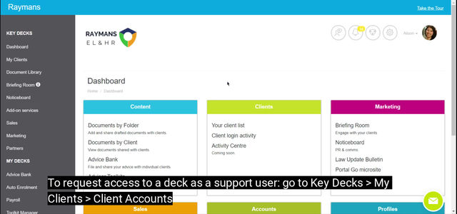 How To: Request access to client account