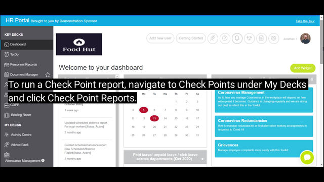 How to run Check Point reports