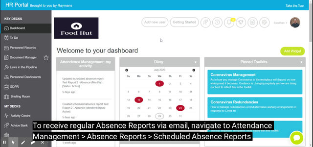 Automate your absence reports