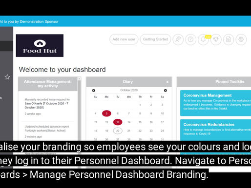 Branding Personnel Dashboards to Improve Employee Experience