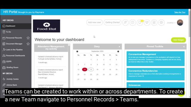 Creating Teams in the Portal