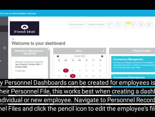 Giving employees access to their Personnel Dashboards