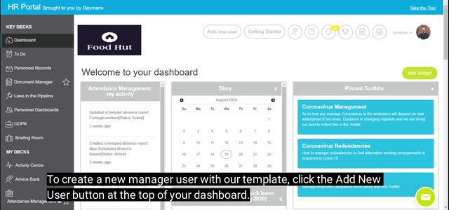 Adding Manager Users
