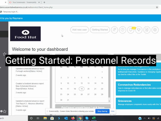 Getting Started with Personnel Records