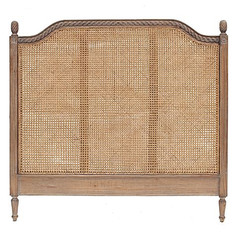 Marseille Rattan Bed Head- Weathered Oak