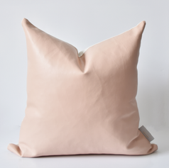 Blush Leather Cushion
