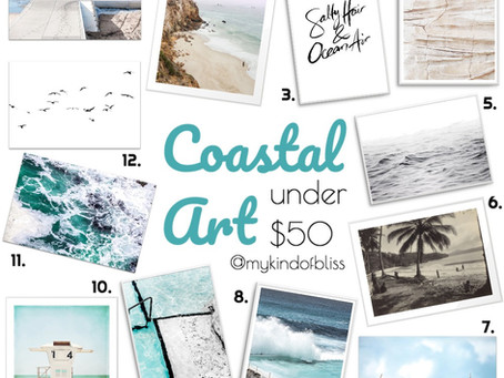 COASTAL ARTWORK Under $50.00
