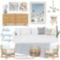 Your Palm Springs weekend getaway awaits you in this living roomfilled with light fresh decor perfect for relaxing. Living room design, living room decor, lounge room, my kind of bliss, mood board, perth interior designer, property styling, boho style, coastal style, palm springs
