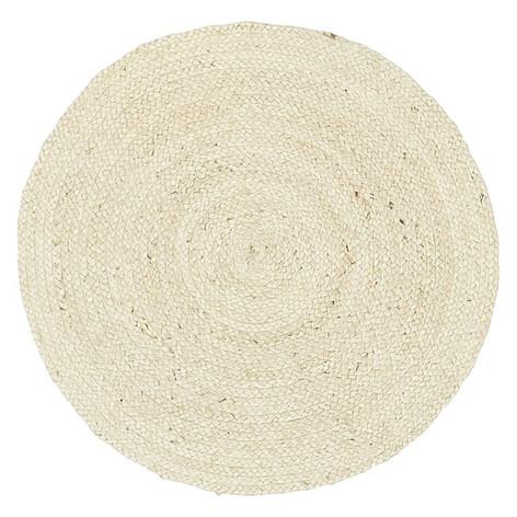 Tortuga Jute Round Rug- White